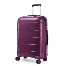 K1997L - KONO 28 INCH HARD SHELL PP SUITCASE - PURPLE