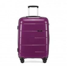 K1997 - KONO 20 INCH HARD SHELL PP SUITCASE - PURPLE