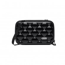 K1999L KONO MULTIFACTED DIAMOND TRAVEL CLUTCH BLACK