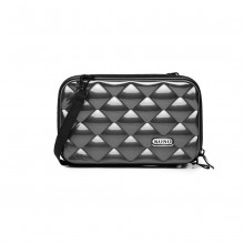 K1999L KONO MULTIFACTED DIAMOND TRAVEL CLUTCH GREY