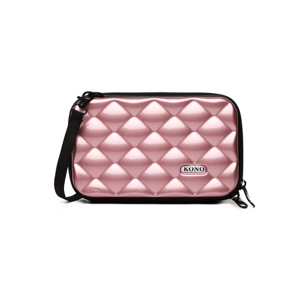 K1999 - KONO MULTIFACETED DIAMOND TRAVEL CLUTCH - NUDE