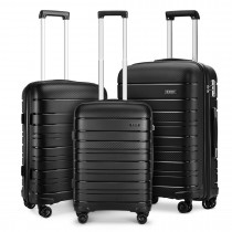 K2091L - Kono MultifTexture Hard Shell PP Suitar 3 Pieces Set --Classic Collection --