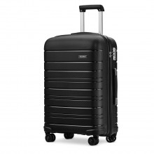 K2091L - Kono 28 Inch Multi Texture Hard Shell PP Suitcase - Classic Collection - Black