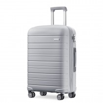 K2091L --Kono 20 Inch Multi Texture Hard Shell PP Suitcase --Classic Collection --Grey
