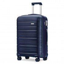 K2091L --Kono 20 Inch Multir Texture Hard Shell PP Suitcase --Classic Collection --Navy