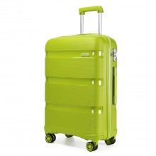 K2092 - Kono 20 Inch Bright Hard Shell PP Suitcase - Classic Collection - Green