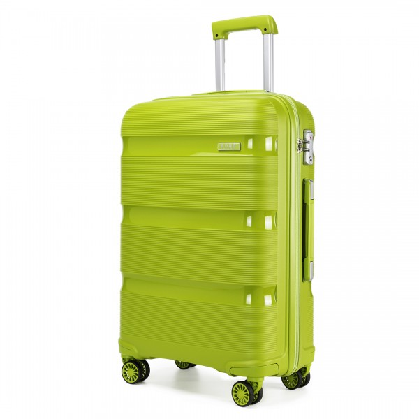 K2092 - Kono 24 Inch Bright Hard Shell PP Suitcase - Classic Collection - Green