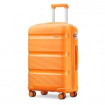 K2092 - Maleta Kono de carcasa rígida brillante de 24 pulgadas Kono - Colección Classic - Naranja