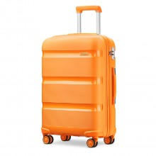 K2092 - Kono 24 Zoll Bright Hartschalen PP Koffer - Classic Collection - Orange