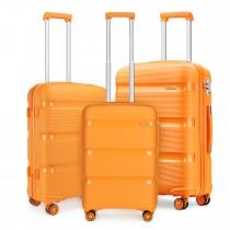 K2092 - Juego de 3 piezas de maleta Kono Bright Hard Shell PP - Colección Classic - Naranja