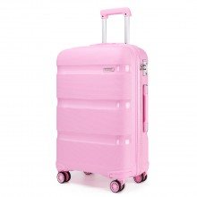K2092 - Kono 20 Zoll Bright Hard Shell PP Koffer - Classic Collection - Pink