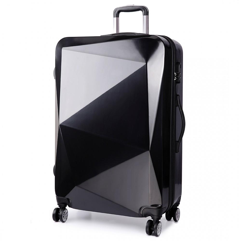 k6671l kono hard shell diamond design 3 piece luggage. Black Bedroom Furniture Sets. Home Design Ideas