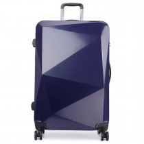 K6671L-miss lulu diamond shape travel luggage navy 28''
