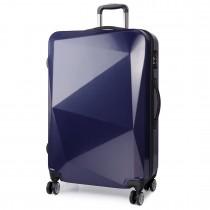 K6671L - KONO hard shell suitcase diamond design 24 inch luggage NAVY