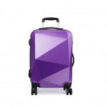 K6671L-miss lulu diamond shape travel luggage purple 24''