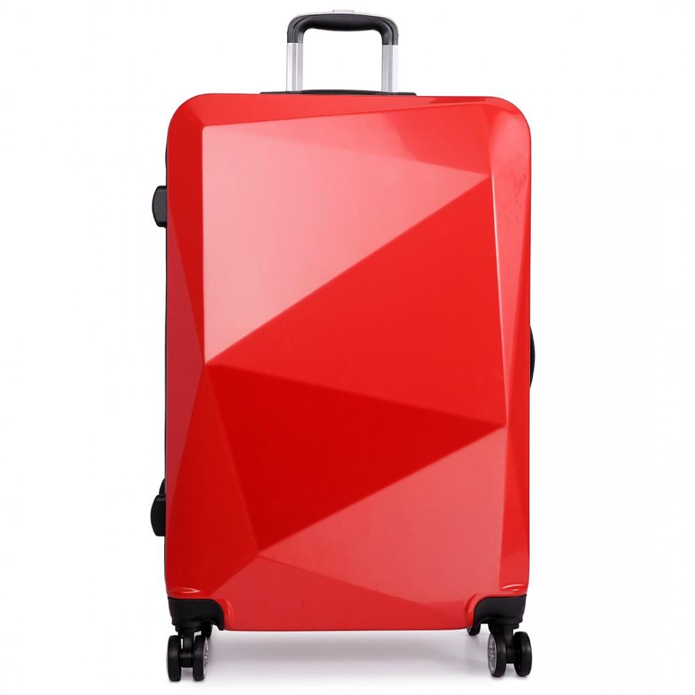 k6671l kono hard shell suitcase diamond design 3 piece. Black Bedroom Furniture Sets. Home Design Ideas