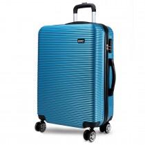 K6676L - KONO 20 Inch Horizontal Stripe Luggage Blue