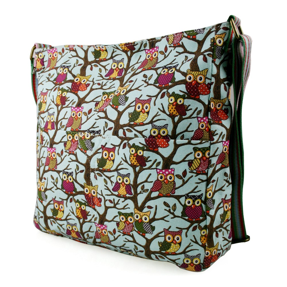 Messenger bags for law school - Home Gt L1104w Miss Lulu Canvas Square Bag Owl Blue