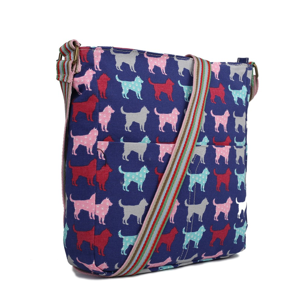 Messenger bags for law school - Home Gt L1104ndg Miss Lulu Canvas Square Bag Dog Navy