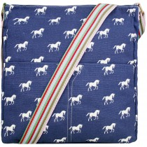 Pani Lulu Canvas Square Bag Horse Navy