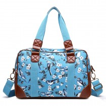 L1106 - Oilcloth Lulu desanimantes 16J BE - CanvasTravel Coated Bag Blue Bird