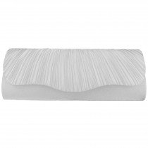 L1112 - Miss Lulu Ruched Evening Clutch Bag Beige