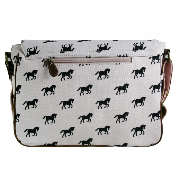 L1157H - Miss Lulu Canvas Satchel Horse Pink