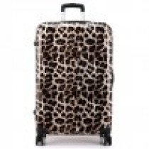 L1212L - Leopard Print Travel Hard Shell Suitcase 4 Wheel Spinner Luggage 20 Inch