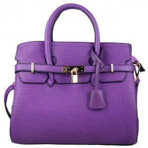 Miss Lulu Boston Bag L1413 Purple