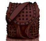 Miss Lulu Skull Bag/backpack L1414 Brown