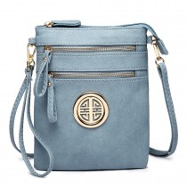 L1417 - Miss Lulu Cross Body Pouch Bag Blue