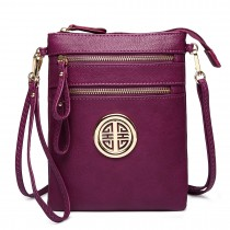 L1417 - Miss Lulu Cross Body Pouch Bag Purple