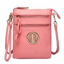 L1417 - Miss Lulu Cross Body Pouch Bag Pink