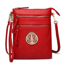 L1417 - Miss Lulu Cross Body Pouch Bag Red