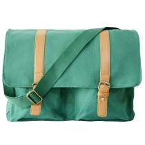 L1418 - Miss Lulu Unisex Canvas Messenger Bag Green