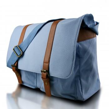 L1418 - Miss Lulu Unisex Canvas Messenger Bag Blue