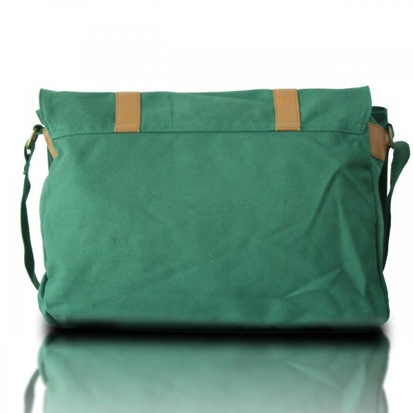 L1418 - Miss Lulu Unisex Canvas Messenger Bag Green