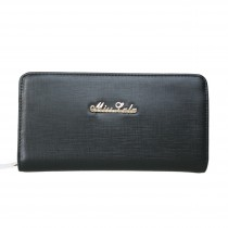 L1429 - Miss Lulu Stylish Leather Look Phone Purse Black