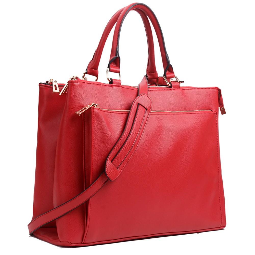 l1438 miss lulu sac de travail en cuir textur rouge fonc. Black Bedroom Furniture Sets. Home Design Ideas