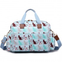 Pani Lulu Maternity Baby Changing Bag Cat Blue