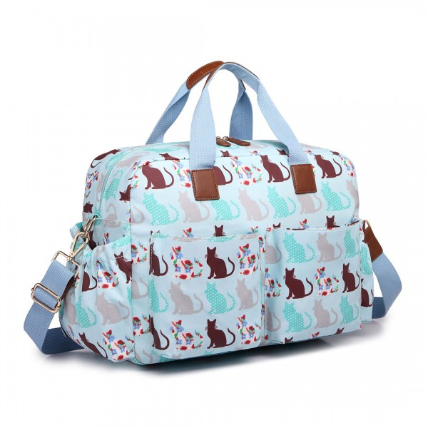 L1501CT - Miss Lulu Maternity Baby Changing Bag Cat Blue