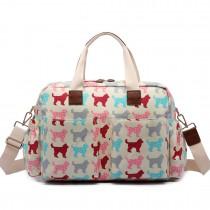 L1501NDG - Miss Lulu Maternity Baby Changing Bag Dog Biege