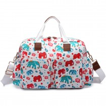 L1501NEW-E - Miss Lulu Maternity Baby Changing Bag Elephant Beige