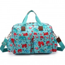 L1501NEW-E - Miss Lulu Maternity Baby Changing Bag Elephant Light Blue