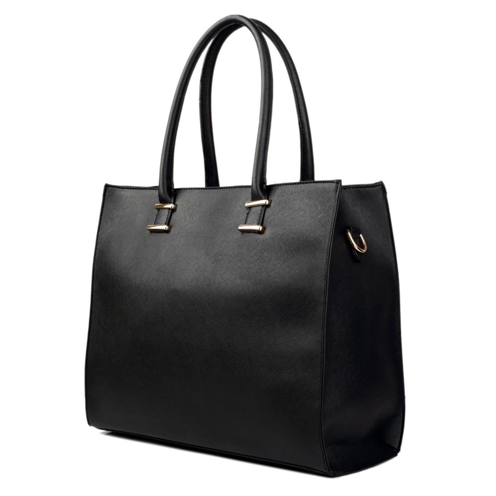 l1509 miss lulu leather look classic square shoulder bag black. Black Bedroom Furniture Sets. Home Design Ideas