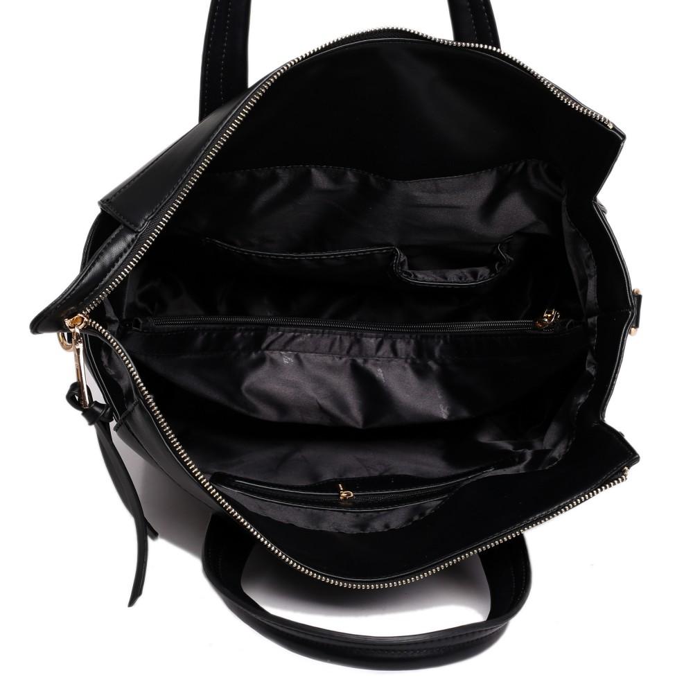l1512 miss lulu verzierte tasche gro e schultertasche schwarz. Black Bedroom Furniture Sets. Home Design Ideas