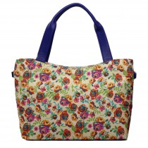 L1515NF - Miss Lulu Stylish Canvas Flower Tote Bag Yellow