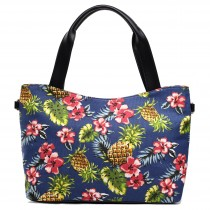 L1515P - Miss Lulu Stylish Canvas Pineapple Tote Bag Navy