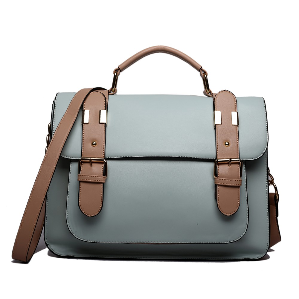 Miss Lulu Classic Satchel Shoulder Bag Grey