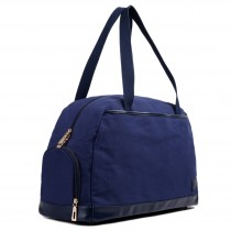L1522 - Miss Lulu Large Holdall Duffel Bag Navy